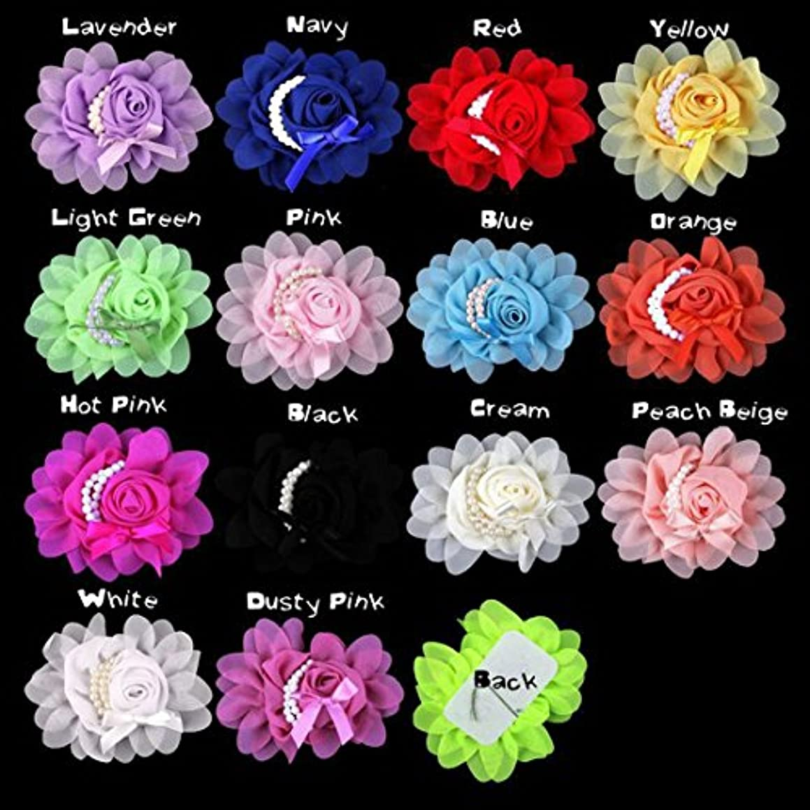 EMAXELER Mixed Random Colors Flat-bottomed Beautiful DIY Handmade Decorative Pearl Bowknot Wedding Flowers for Headbands Hair Clips Scrapbooking Clothes and More Decoration 10 PCS Pearl Bowknot Flower