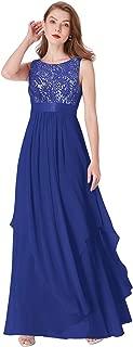 Elegant Sleeveless Round Neck Party Evening Dress 08217