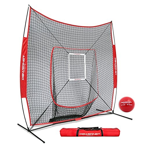 PowerNet DLX 7x7 Baseball Softball Hitting Net + Weighted...