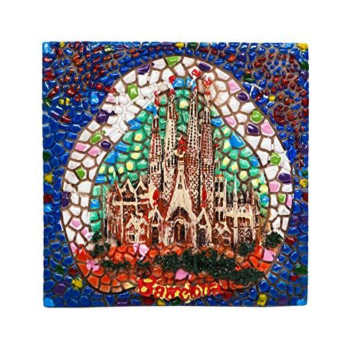 Sagrada Família, Barcellona, Spagna | Calamita da Frigo 3D in Resina | Souvenir di Viaggio in Città Europea