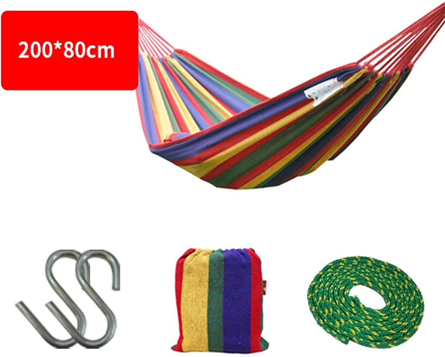 Hammock, Widen Canvas Student Bedroom Dorm Room Outdoor Hammock (color   1)