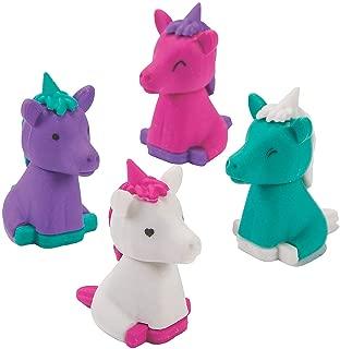 Fun Express - Unicorn 3D Eraser - Stationery - Pencil Accessories - Erasers - 24 Pieces