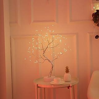KHTO DIY Led Desk Tree Lamp, Desk Table Decor 108 LED Head Lights for Home,Bedroom, Indoor,Wedding Party, Decoration Touch...