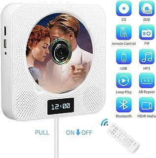 Lecteur CD/DVD Portable, Montage Mural Bluetooth Lecteur DVD/CD avec..