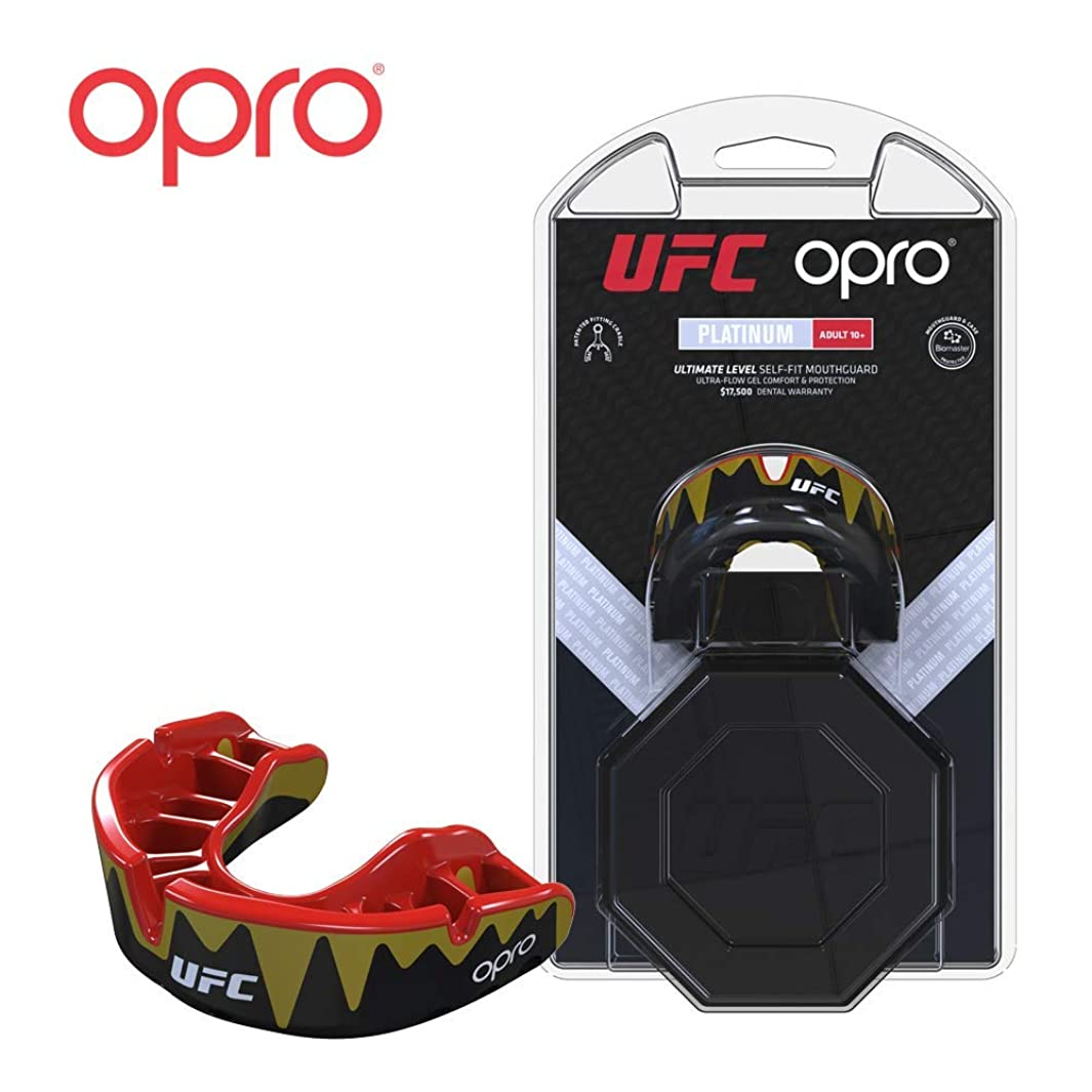 OPRO UFC Adult Mouthguard for MMA, Boxing, BJJ, and Other Combat Sports - 18 Month Dental Warranty qiguprnwq55