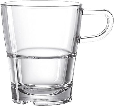 Preisvergleich für Leonardo 024013 Henkelbecher / Kaffeetasse - SENSO - Glas - 1 Stück