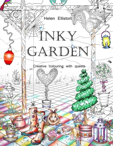 Inky Garden: Creative colouring with quests & 3D paper flower (Inky Colouring books, Band 2)