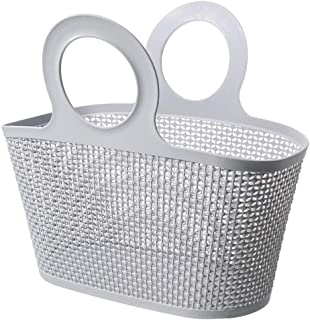Attmu Plastic Shower Caddy Dorm with Handle for Bathroom, College Room