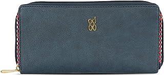 Baggit Autumn/Winter 2020 Faux Leather Women's Ziparound Wallet (Blue) (Trimy)