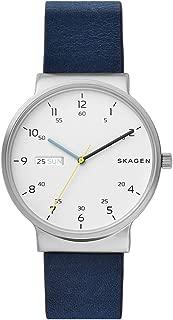 Skagen Men's Quartz Watch analog Display and Leather Strap, SKW6455