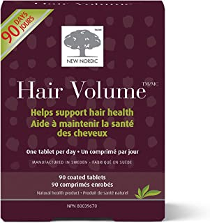 New Nordic US Inc, Hair Volume With Apple Extract, 90 Tablets (Pack of 1)