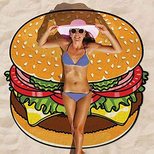 Baffect® Gasa Poliéster 150 * 150 cm toalla playa