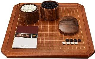 Luckyw Kinesiskt schackset barn studenter nybörjare trä dubbelsidig bräda