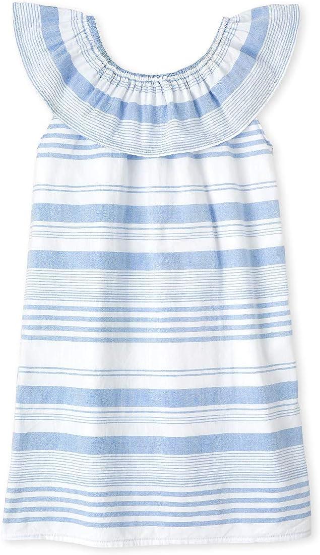 The Children's Place Girls' Short Sleeve Striped Dress