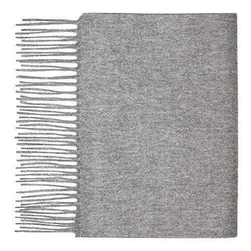 Sciarpa da donna in 100% puro cashmere grigio Grey