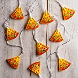 Lights4fun, Inc. 20 Pizza Slice Battery Operated Indoor LED Party String Lights for Indoor & Outdoor Use
