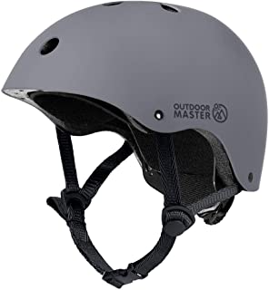 OutdoorMaster Kids Skateboard Cycling Helmet - ASTM & CPSC Certified Adjustable Multi-Sports Helmet with Removable Liners ...