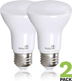 Bioluz LED BR20 Dimmable LED Light Bulbs 2 Pack - E26 LED Bulb 7W=50W Dimmable LED Light Bulbs Replacement for Halogen & Incandescent Lights - 3000K LED Bulb LED Flood Light Bulbs Indoor/Outdoor
