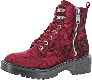 Womens Revive Chunky Heel Ankle Combat Boots