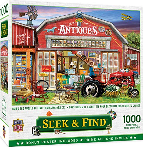 MasterPieces Seek & Find Puzzles Collection - Antiques for Sale 1000 Piece Jigsaw Puzzle