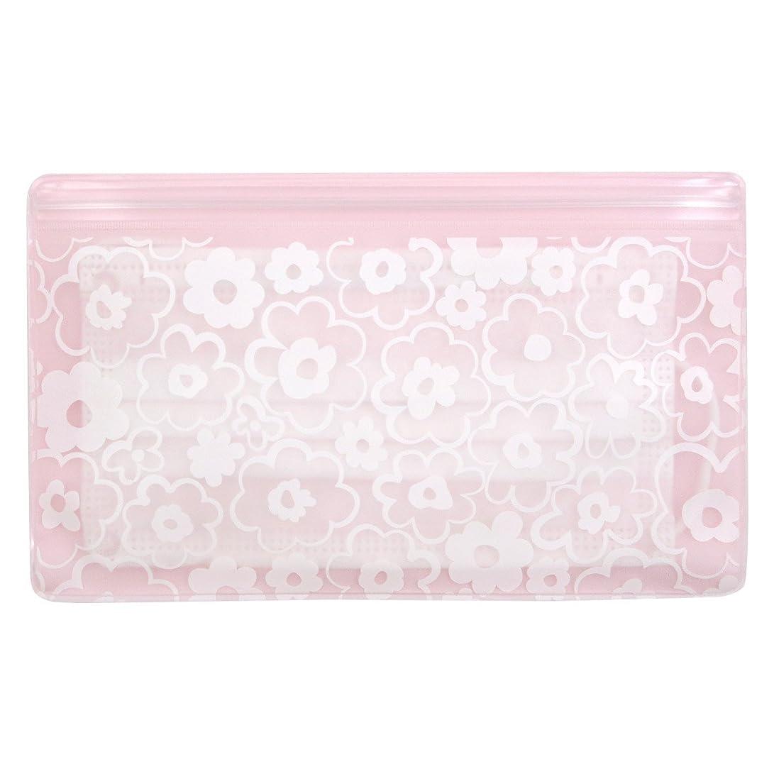 パンサーハードフェデレーション抗菌マスクケース Wポケット 花柄ピンク いやあらっくす