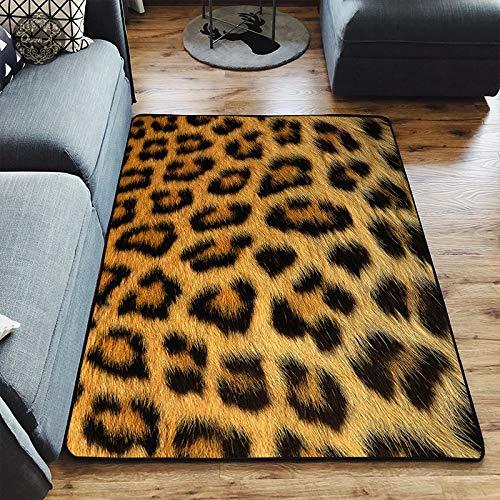 XY3JD Alfombra de la habitación Creativa 3D Leopardo/Cebra/Vaca/Tigre