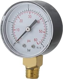 Banbie8409 Práctico, piscina, spa, filtro, indicador de presión de agua, Mini 0-60 PSI 0-4 Bar TS-50