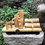 Japonés Grande Fuentes De Agua,Bambú Feng Shui Fuente Casa Decoración Esculturas Cascada Al Aire Libre Jardín Característica Regalo A 50cm(20inch)