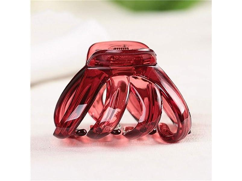 薬理学金銭的陰謀Osize 美しいスタイル 子供のミニ爪クリッププラスチックヘアクリップバングクリップヘアスタイルツール(ライトレッド)