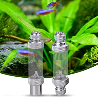 Tomshine Aluminum Alloy CO2 Bubble Counter with Check Valve for Aquarium Carbon Dioxide Measurement Device Single Head