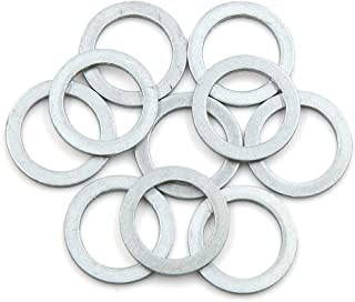 X AUTOHAUX 20pcs White Rubber O-Ring Seal Gasket Washer for Automotive Car 18 x 1mm