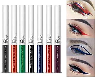 Waterproof Matte Colored Eyeliner Set, 15 Colors Supterstay Long Lasting Highly Pigmented Eye Liner Pencil Liquid Eyeshado...