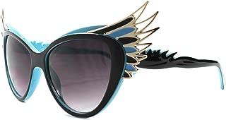 Unique Vintage Retro Funky Oversized Wing Tip Cat Eye Sunglasses