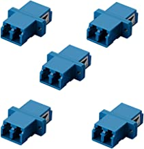 SIENOC 5 Packs LC-LC Duplex Optical Fiber Optic Cable Coupler Adapter Couplings