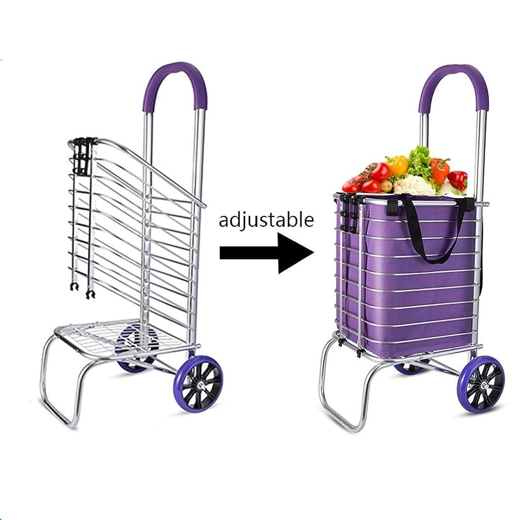 隔離まだら取り壊す折りたたみ食料品の買物車のドリー、キャンバスバッグ、トランジットユーティリティカート、ローリングバッグカート、ショッピングに最適な150ポンドユーティリティトロリードリー (色 : 2 wheel)