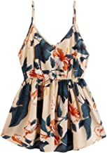 kHVeam Fashion Women Casual V-Neck Sleeveless Plus Size Printing Tank Tops Vest Camis