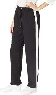 Womens Striped Drawstring Track Pants