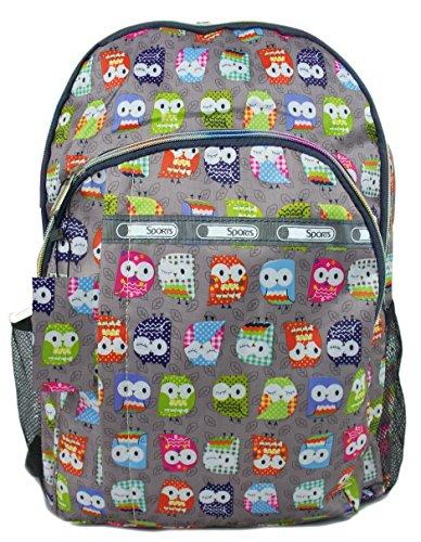 GFM Happy Backpack Colourful Owl Bag For School, Gym, Holidays, Beach, Casual Bag (S1-6215-MTLO-BH)