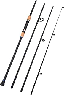 Fiblink 4-Piece Surf Spinning & Casting Fishing Rod Portable Carbon Fiber Travel Fishing Rod(10-Feet & 11-Feet & 12- Feet ...