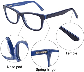 Blue Light Shield Computer Reading/Gaming Glasses for Kids- 0.0 Magnification - Anti Blue Light UV Protection Low Col...
