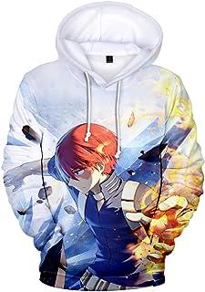 3D Printed Clothing My Hero Academia Hoodies Pullover with Kangaroo Pocket Hooded Jacket Sweatshirt Cosplay Costume School...
