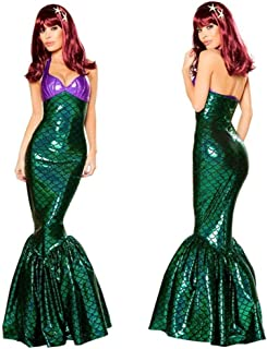 Women Sexy Deluxe Under The Sea Mermaid Costumes Women Sexy Adult Halloween Fancy Dress