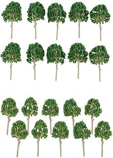 icke-märke 20 st plastmodell träd tåg järnväg landskap gröna växter