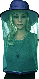 C.C-US Anti-Mosquito Head Net Sun Hat, Outdoor UPF 50+ Bucket Hat Fishing Hat with Mesh Protection from Insect Bug Bee Gnats for Men Women