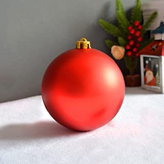 Christmas Tree Balls, Red Christmas Balls Ornaments Hanging Xmas Ball Shatterproof Decorations, Strong and Durable, for C...