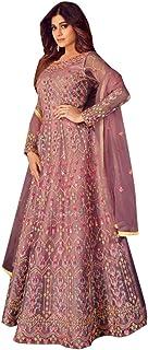 Lavender Indian Bollwood Designer Net Anarkali Salwar suit Muslim Women Party Wear Dress 8407