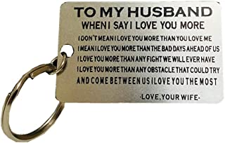 Luvimie Keychain Anniversary Gifts for Husband Gifts for Men Keyring