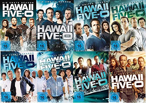 Hawaii Five-O - Staffel 1+2+3+4+5+6+7+8 im Set - Deutsche Originalware [49 DVDs]