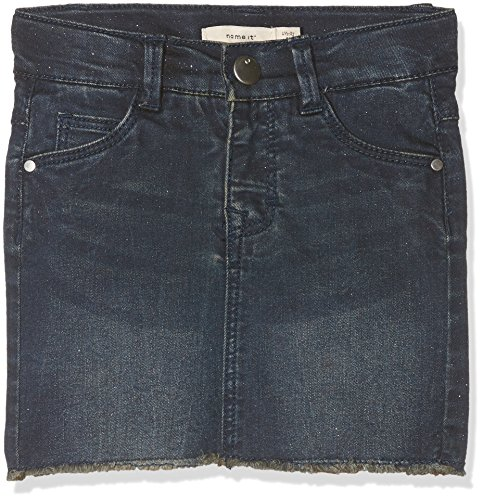 Name It Nitandrine DNM Skirt F Mini Jupe, Bleu (Medium Blue Denim), 92 Bébé Fille