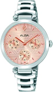 Alba Casual Watch for Women , Stainless Steel , Round